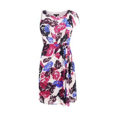 floral pattern sleeveless dress multi